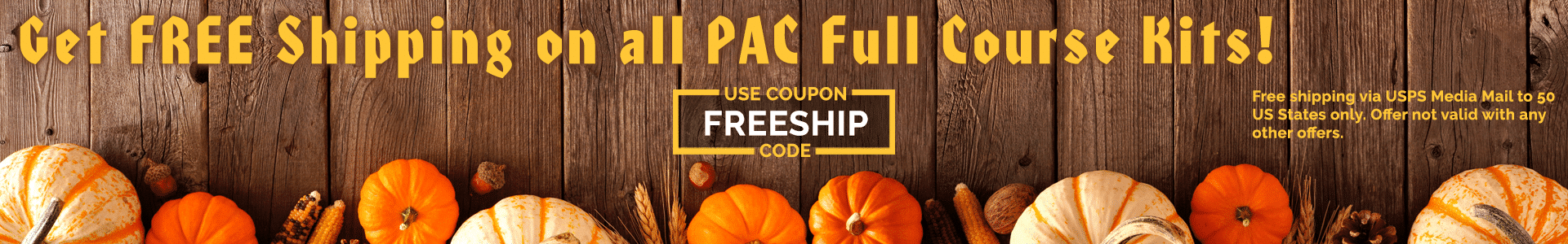 PAC Fall Promotion